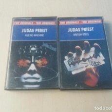 Casetes antiguos: JUDAS PRIEST - KILLING MACHINE + BRITISH STEEL - DOBLE CASETE. Lote 163367050