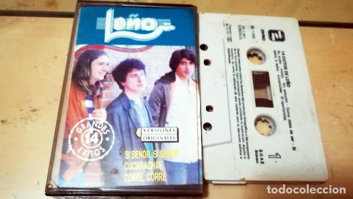 Casetes antiguos: Caset de - LEÑO - Editado por ZAFIRO ( Chapa Disco ) 14 Exitos de Leño - En Año 1991 - Foto 2 - 163429058