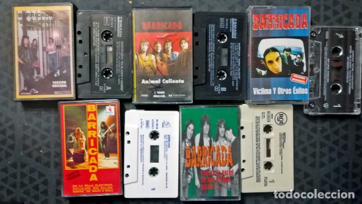 LOTE COLECCIONISTA DE 5 CASETS DE - BARRICADA - 1992-EN BLANCO Y NEGRO- 1993 ANIMAL CALIENTE - 2001 (Música - Casetes)