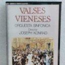 Casetes antiguos: CINTA CASETE VALSES VIENESES DIRECTOR JOSEPH KONRAD. Lote 164845522
