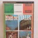 Casetes antiguos: CINTA CASETE ECOS DE ITALIA HERNER MULLER Y SU ORQUESTA. Lote 164866026