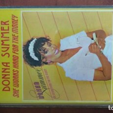 Casetes antiguos: CASSETTE DONNA SUMMER. SHE WORKS HARD FOR THE MONEY. Lote 165157358