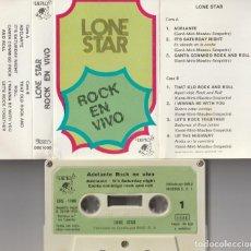 Casetes antiguos: LONE STAR - ADELANTE ROCK EN VIVO (CASSETTE DIPLO 1975). Lote 166899256