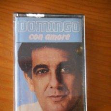 Casetes antiguos: PLÁCIDO DOMINGO. CON AMORE. SELLO RCA. 1982. CASETE -CASSETTE-. BUEN ESTADO. Lote 166934676