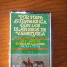 Casetes antiguos: LOS LLANEROS DE VENEZUELA. POR TODA SUDAMÉRICA. SELLO GM. 1977. CASETE -CASSETTE-. BUEN ESTADO. Lote 167463844