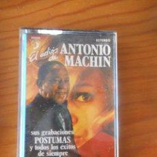Casetes antiguos: ANTONIO MACHIN. EL ADIÓS DE... GRABACIONES POSTUMAS. SELLO DISCOPHON. 1977. CASETE -CASSETTE-.. Lote 167464148