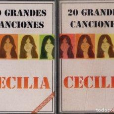 Casetes antiguos: CECILIA. 20 GRANDES CANCIONES (2 CASETES). CASE-16633. Lote 206924087