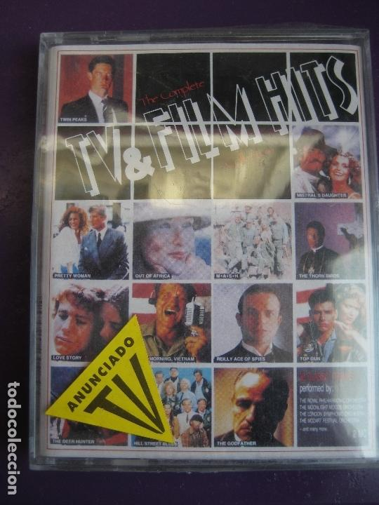 Casetes antiguos: TV & FILMS HITS DOBLE CASETE 1991 - TWIN PEAKS - EL PADRINO - DINASTIA - DALLAS - TELEVISION CINE - Foto 1 - 168029404