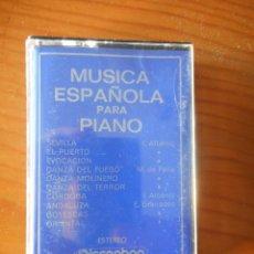 Casetes antiguos: JAMES TOCCO. MÚSICA ESPAÑOLA PARA PIANO. SELLO DISCOPHON. 1972. CASETE -CASSETTE-. BUEN ESTADO. Lote 168287348