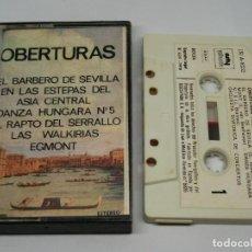 Cassettes Anciennes: CASETE - OBERTURAS - EL BARBERO DE SEVILLA - EN LAS ESTEPAS DEL ASIA CENTRAL - DANZA HÚNGARA - 1978. Lote 169325796