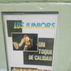 Casetes antiguos: LOS JUNIORS - UN TOQUE DE CALIDAD *** ARREBATO RECORDS CASETE CASSETTE ASTURIAS. Lote 169345848
