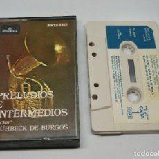 Cassettes Anciennes: CASETE - PRELUDIOS E INTERMEDIOS NÚMERO 8 - FRÜHBECK DE BURGOS - ORQUESTA FILARMÓNICA DE ESPAÑA 1978. Lote 170752638