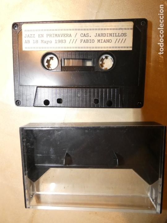 CASSETE FABIO MIANO, JAZZ EN ALBACETE CASETA DELOS JARDINILLOS AÑO 1983. SE ESCUCHA BIEN. (Música - Casetes)