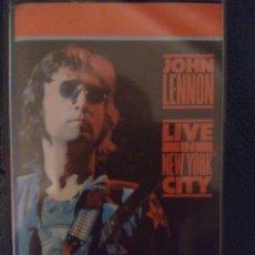 Casetes antiguos: JOHN LENNON LIVE IN NEW YORK CITY - CASSETTE. Lote 171463888