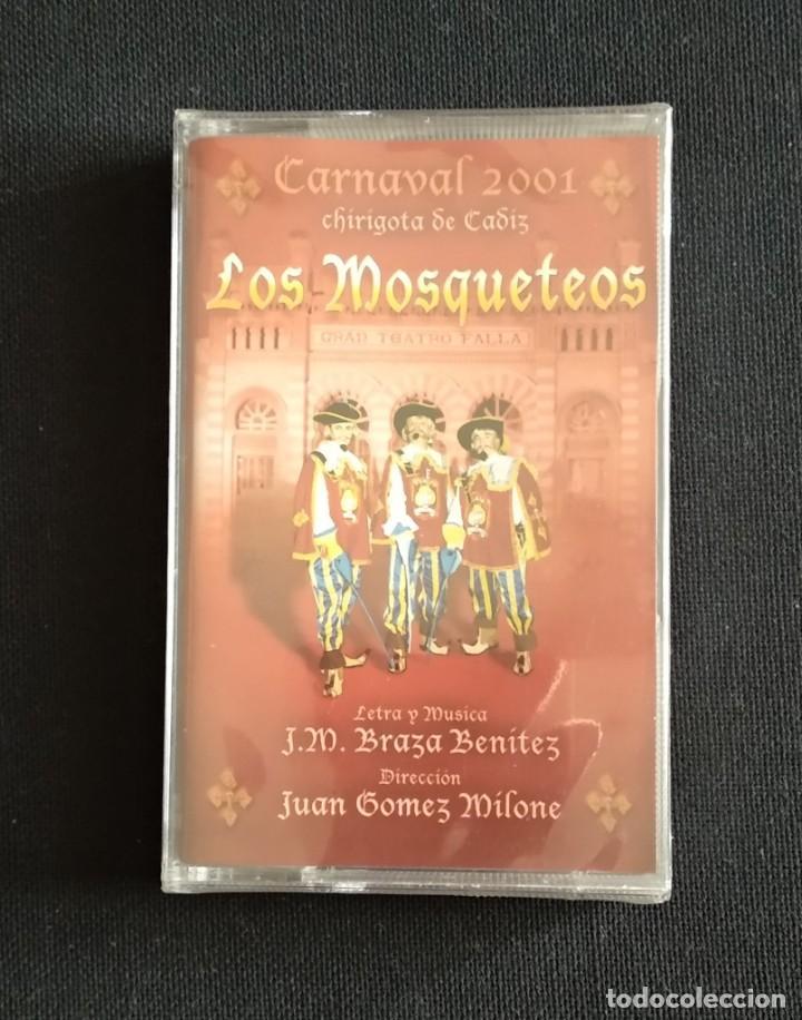 2001 CASETE PRECINTADO CARNAVAL CÁDIZ LOS MOSQUETEOS (Música - Casetes)
