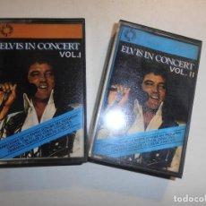 Casetes antiguos: CINTA CASSETTE - ELVIS IN CONCERT VOLUMEN I Y II -- 1977. Lote 172117432