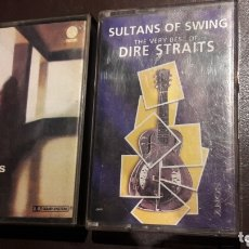 Casetes antiguos: LOTE 2 CASSETTE DIRE STRAITS 1978 Y THE VERY BEST OF SULTANS OF SWING. Lote 172894387