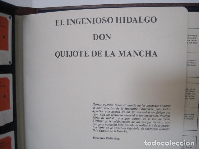 Casetes antiguos: DON QUIJOTE DE LA MANCHA DE MIGUEL DE CERVANTES SAAVEDRA. 35 CASSETTES. EDICIONES DIDÁCTICAS. - Foto 7 - 174383199