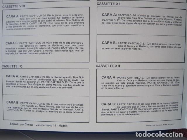 Casetes antiguos: DON QUIJOTE DE LA MANCHA DE MIGUEL DE CERVANTES SAAVEDRA. 35 CASSETTES. EDICIONES DIDÁCTICAS. - Foto 11 - 174383199