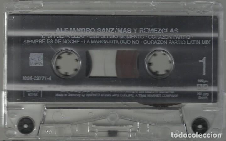 Casetes antiguos: Alejandro Sanz - Más Y Remezclas Cassette - Foto 3 - 174444263