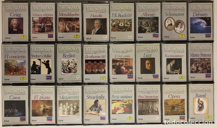 Casetes antiguos: Lote de Cassettes Música Clásica Colección Musicalia / Salvat - Foto 2 - 174463119