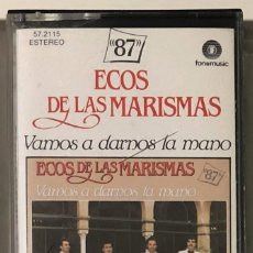 Casetes antiguos: ECOS DE LAS MARISMAS - VAMOS A DARNOS LA MANO CASSETTE. Lote 174466687