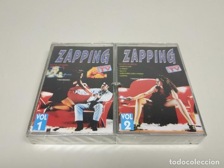 JJ8- ZAPPING VOL 1 & 2 RECOPILATORIO CASSETTE NUEVO PRECINTADO (Música - Casetes)
