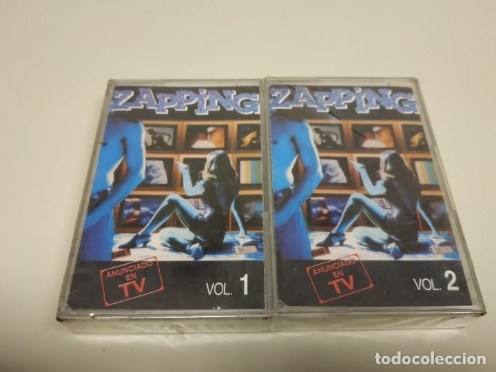 JJ8- ZAPPING CAS 350 VOL 1 & 2 RECOPILATORIO CASSETTE NUEVO PRECINTADO (Música - Casetes)