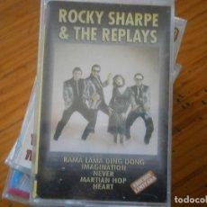 Cassette antiche: ROCKY SHARPE THE REPLAYS¡CASSETTE NUEVO¡PRECINTADO¡¡SIN EXTRENAR''. Lote 176343650