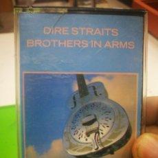 Casetes antiguos: CASETE DIRE STRAITS BROTHERS IN ARMS BUENA CONDICIÓN. Lote 176499985