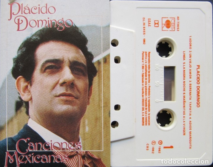 PLACIDO DOMINGO - CANCIONES MEXICANAS (Música - Casetes)