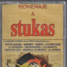 Casetes antiguos: HOMENAJE A STUKAS , POLVORA .... - CASSETTE PRECINTADO RF-946,10 . Lote 178860292