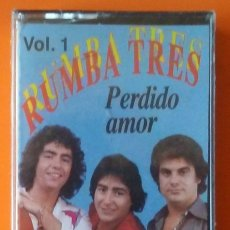Casetes antiguos: RUMBA TRES PERDIDO AMOR PERFIL PRECINTADA!. Lote 178931217