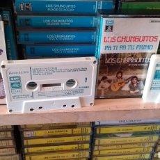 Casetes antiguos: LOS CHUNGUITOS 2 CINTAS (PA TI PA TU PRIMO 1980 , ME LLAMAN EL LOCO 1 TRABAJO1977 )PERFECTO ESTADO. Lote 179158790