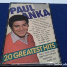 Casetes antiguos: CASETE CASSETTE ( PAUL ANKA - 20 GREATEST HITS ) 1987 YESTERDAYS GOLD. Lote 180493487