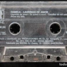Casetes antiguos: CAMELA LAGRIMAS DE AMOR. Lote 180902833