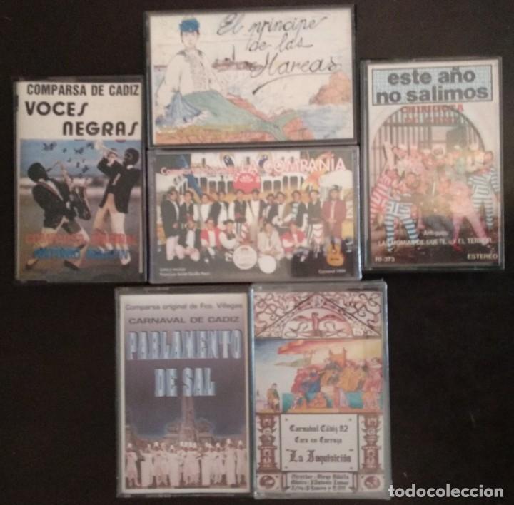LOTE 6 CASETES CARNAVAL CÁDIZ (Música - Casetes)