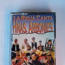 Cassettes Anciennes: LA RIOJA CANTA. HERMANAS ARBONIES. HIMNO DE LA CASA DE LA RIOJA EN GUIPUZCOA. CASETE. TDKCST19. Lote 181416391