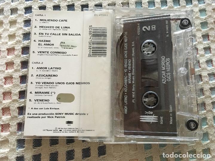 Casetes antiguos: AZUCAR MORENO OJOS NEGROS 1992 cinta casete cassette kreaten - Foto 2 - 182097010