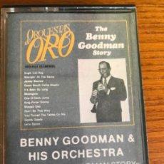 Casetes antiguos: CASETES BENNY GOODMAN & HIS ORCHESTRA. THE BENNY GOODMAN STORY.. Lote 182106742