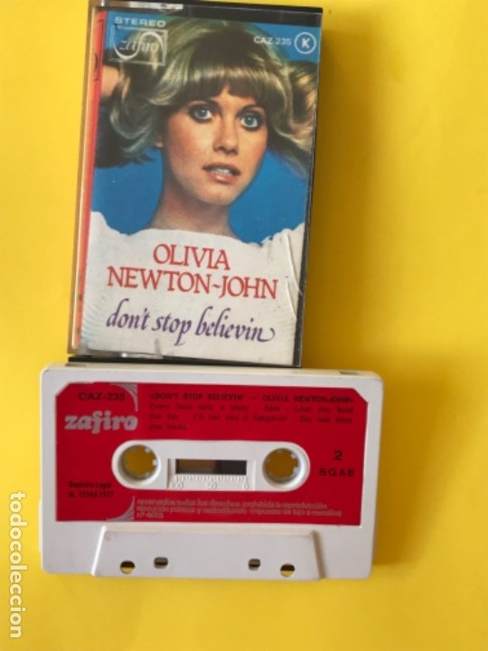 OLIVIA NEWTON JOHN CASETE DON'T STOP BELIEVEN CINTA DE MUSICA ZAFIRO 1977 CAZ-235 K (Música - Casetes)