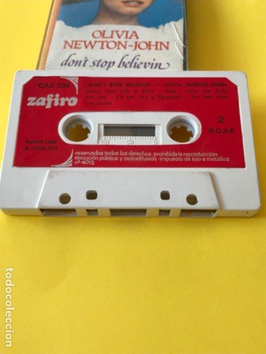Casetes antiguos: Olivia newton john casete dont stop believen cinta de musica zafiro 1977 Caz-235 k - Foto 2 - 182258232