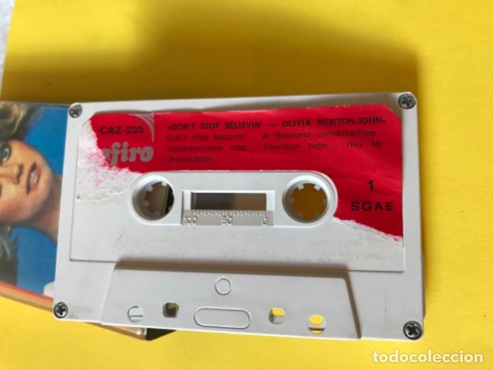 Casetes antiguos: Olivia newton john casete dont stop believen cinta de musica zafiro 1977 Caz-235 k - Foto 3 - 182258232