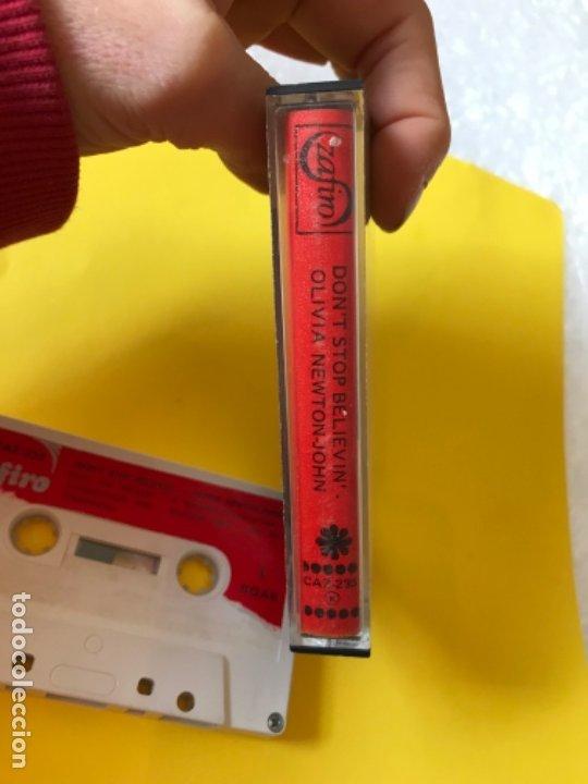 Casetes antiguos: Olivia newton john casete dont stop believen cinta de musica zafiro 1977 Caz-235 k - Foto 5 - 182258232