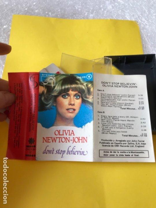 Casetes antiguos: Olivia newton john casete dont stop believen cinta de musica zafiro 1977 Caz-235 k - Foto 6 - 182258232