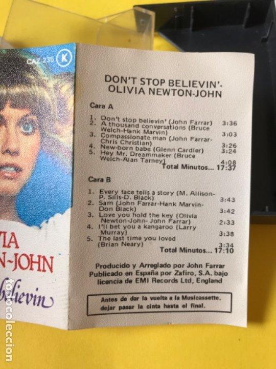 Casetes antiguos: Olivia newton john casete dont stop believen cinta de musica zafiro 1977 Caz-235 k - Foto 7 - 182258232