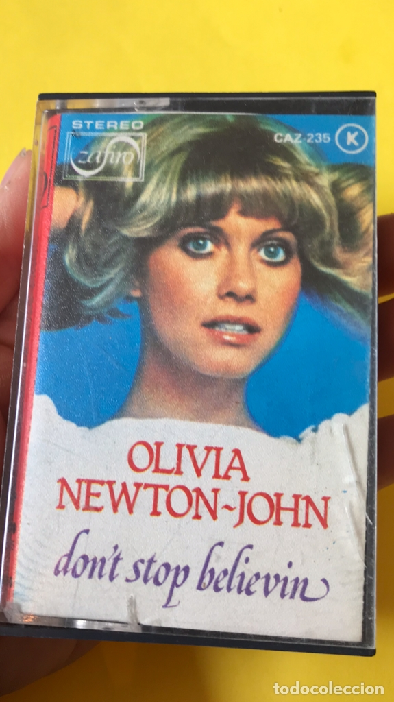 Casetes antiguos: Olivia newton john casete dont stop believen cinta de musica zafiro 1977 Caz-235 k - Foto 8 - 182258232