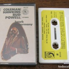 Cassettes Anciennes: COLEMAN HAWKINS - BUD POWELL: HAWK IN GERMANY. 1975 DISCOPHON. Lote 187185257