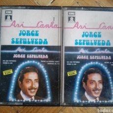Cassette antiche: CINTAS/CASETES ASÍ CANTA JORGE SEPÚLVEDA VOLUMEN 1 Y 2. Lote 188221220
