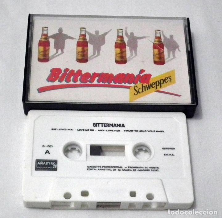 Casetes antiguos: CINTA CASSETTE PROMOCIONAL MARCA SCHWEPPES - THE BEATLES BITTERMANIA - Foto 1 - 189133931